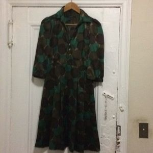 Zara Dress Camouflage Abstract Size Small S